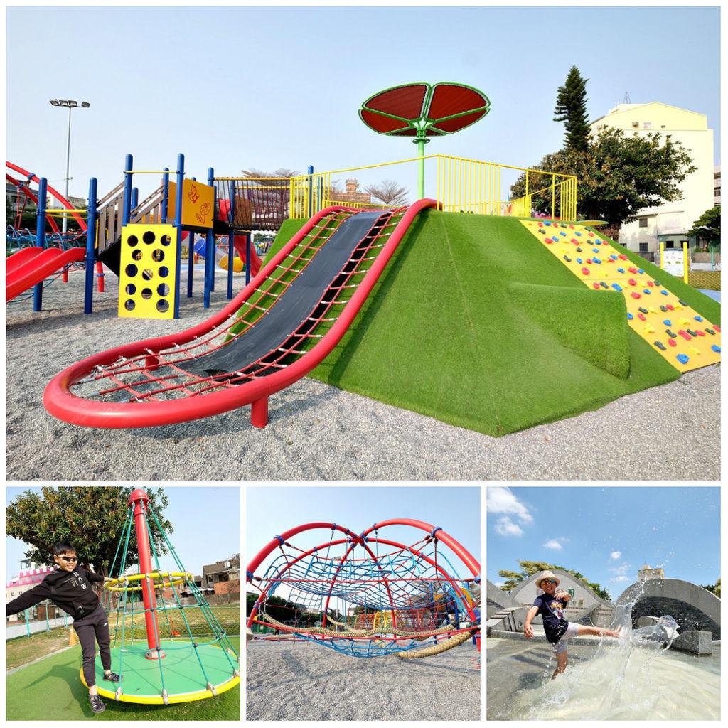 中部親子玩水景點彰化兒童公園共融遊戲場~溜滑梯、爬網、親子鞦韆、遮陽沙坑、免費玩水戲水池.jpg