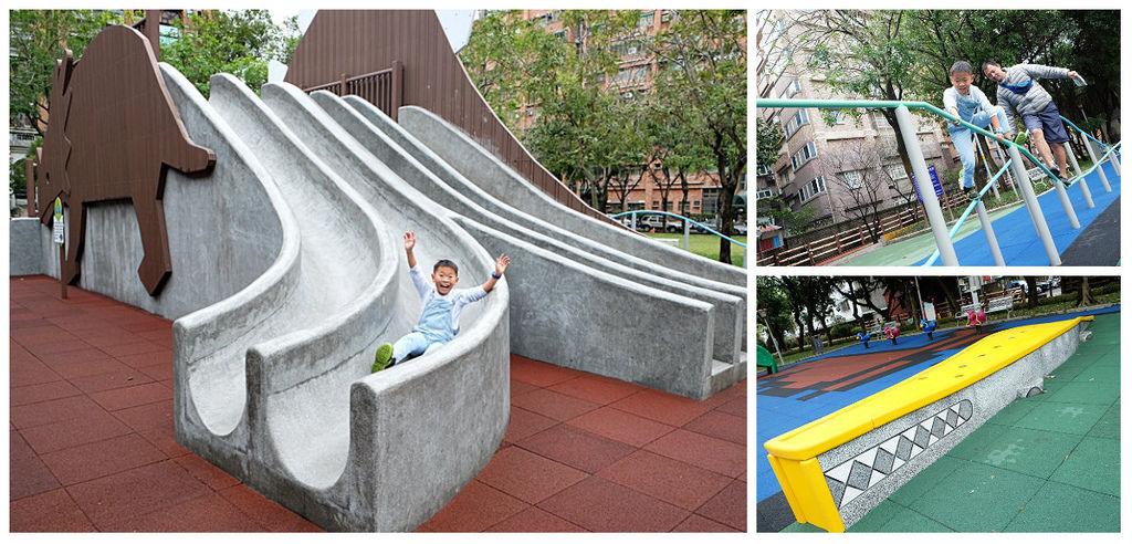 【桃園親子景點】溫州公園~整個公園都是孩子的侏儸紀世界|恐龍磨石溜滑梯、彩色細長攀爬架、樹木健身器材fb.jpg