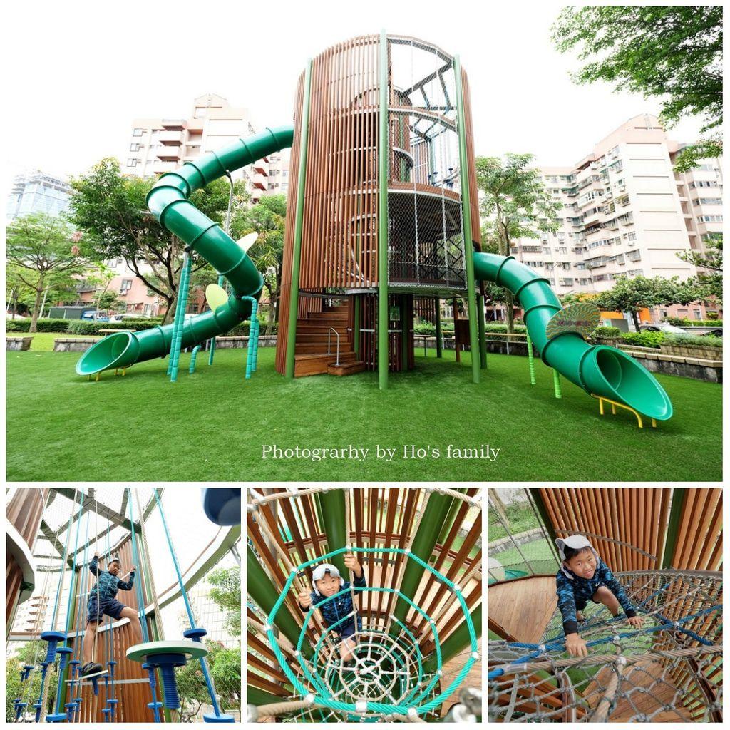 【南港親子公園】東陽公園~8米高魔王之塔!6大關卡挑戰攀爬繩網、攀岩、特色溜滑梯.jpg