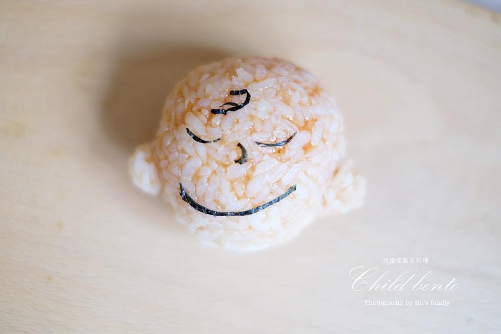 兒童早餐造型便當食譜~史努比泡湯咖哩飯6.JPG