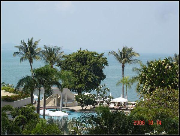 旅館陽台前的景觀