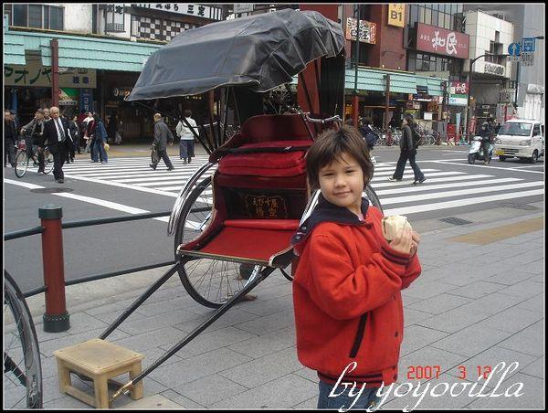 不會引起空氣污染的日本人力車