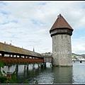 瑞士 琉森 卡貝爾木橋 Luzern, Swissland