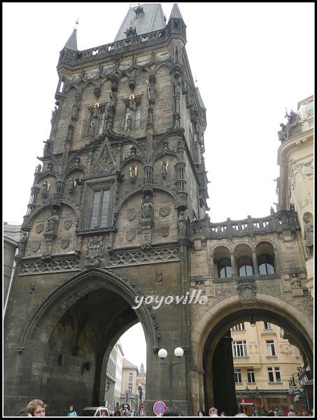捷克 布拉格 火藥塔 市政府 Prasna brana, Prag, Czech