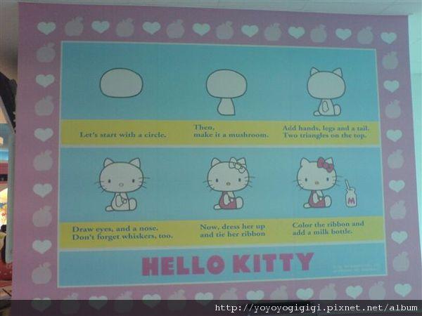 牆上教如何畫kitty貓