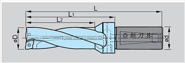 閃電型螺旋槽快速鑽頭 2