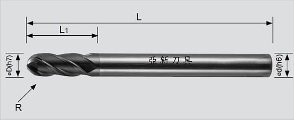 鎢鋼 4刃球形立銑刀2