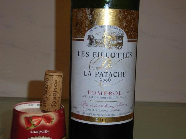 Les Fillottes de La Patache 2006 Pomerol