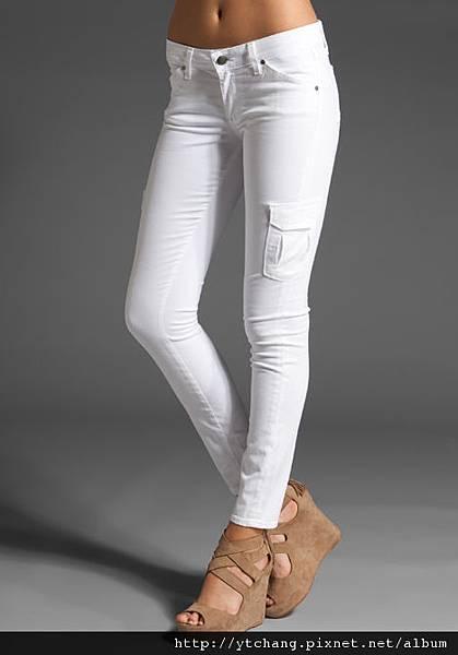 Paige Premium Denim Skinny Cargo in Optic White