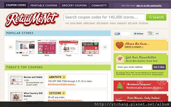 promo code, coupon site- Retailmenot