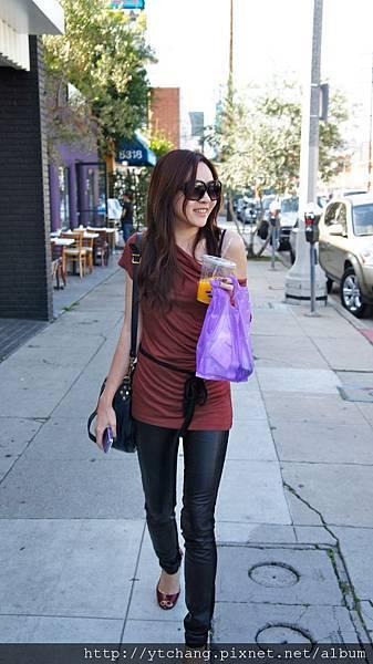 Paige ponte leather pants