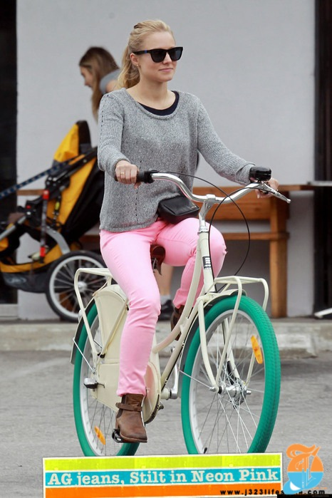 celebs in AG stilt neon pink