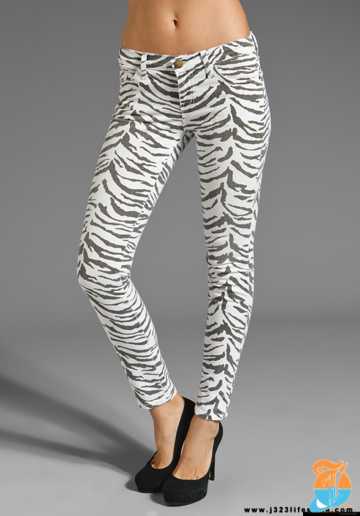 c:e The Ankle Skinny in Vintage Zebra