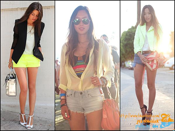 shorts w neon