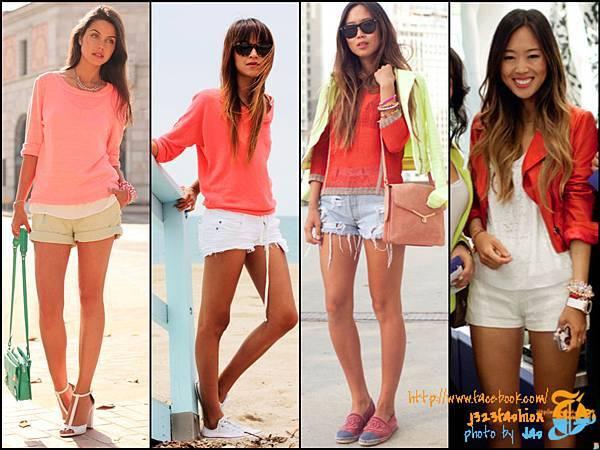 shorts w tangerine