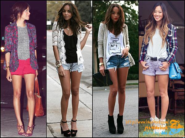 shorts w tees