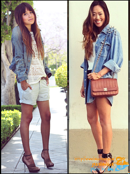 shorts w denim shirts or jackets