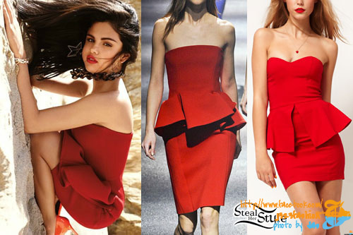 selena-gomez-red-peplum-dress