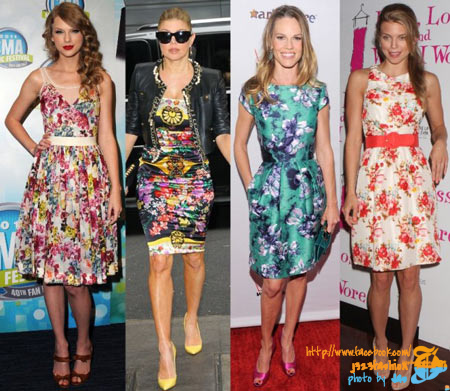 Celebrity-Summer-Short-Floral-Dresses