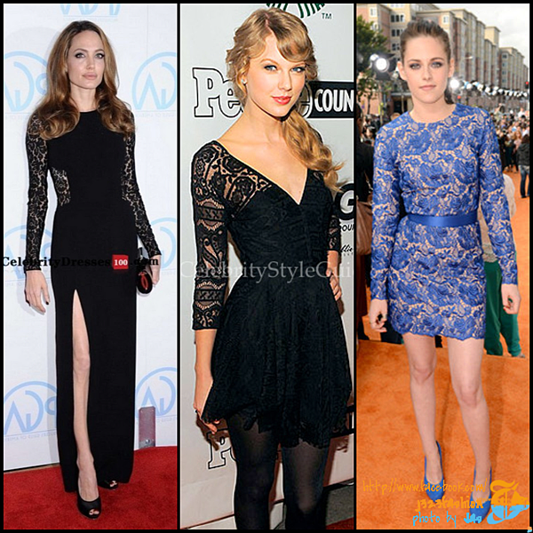 celeb lace dresses 2