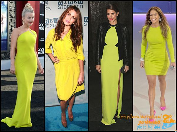 celeb neon dresses