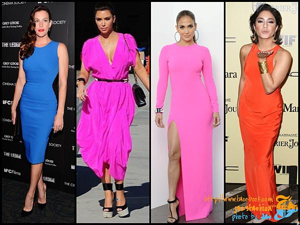 celeb neon dresses 2
