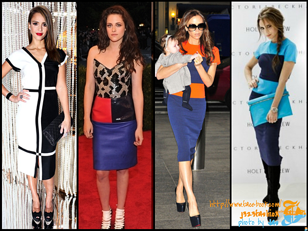 celeb color-blocking dresses 2