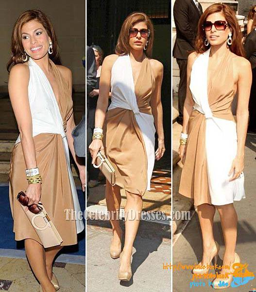 eva_mendes_celebrity_color_blocks_halter_prom_gown_formal_dress_5
