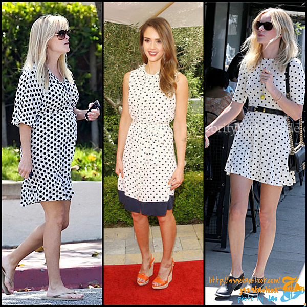 celeb polka dots dress