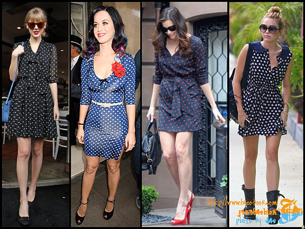 celeb polka dots dress 2
