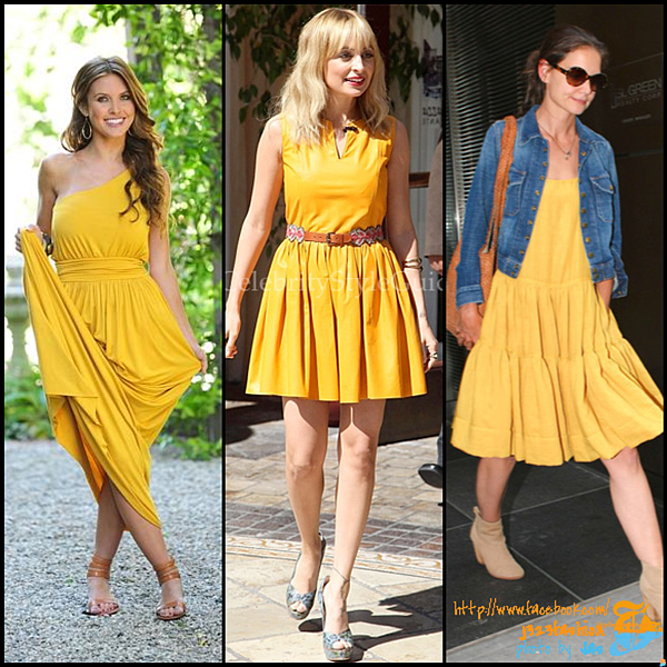 celeb yellow dresses