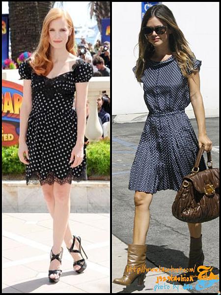 celeb polka dots dresses 3