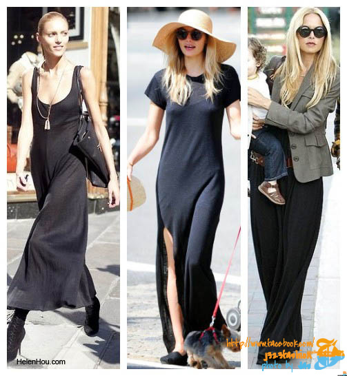 The-art-of-accessorizing-from-Helenhou.com-Anja-Rubik-Jessica-Hart-and-Rachel-Zoe-in-black-maxi-dress