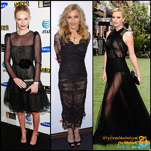 celeb sheer dresses