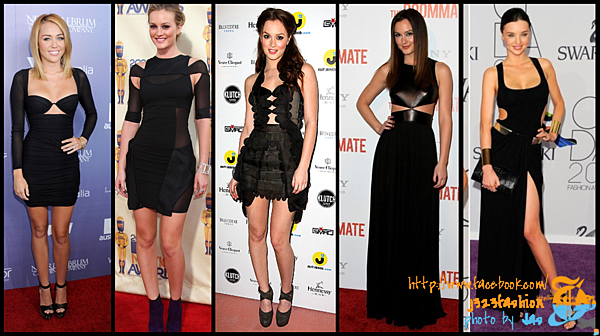 celeb cut-out dresses