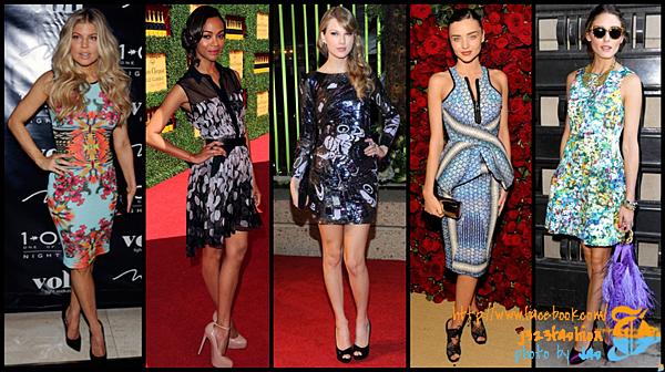 celeb bold print dresses 2