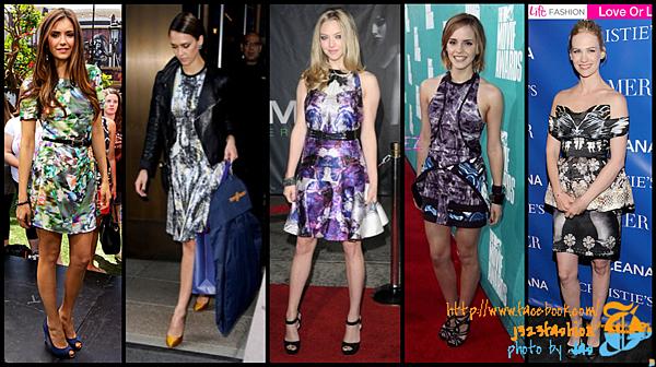 celeb bold print dresses