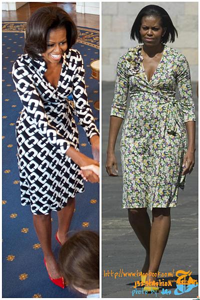 obama wrap dress