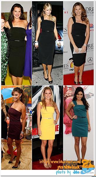 celebrities-black-halo-one-shoulder-jackie-dress