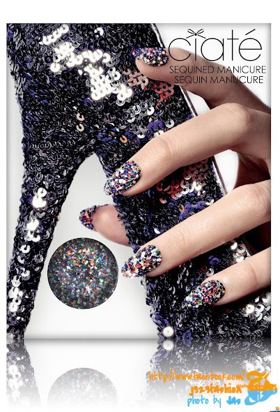 Sequinned Manicure Harlequin