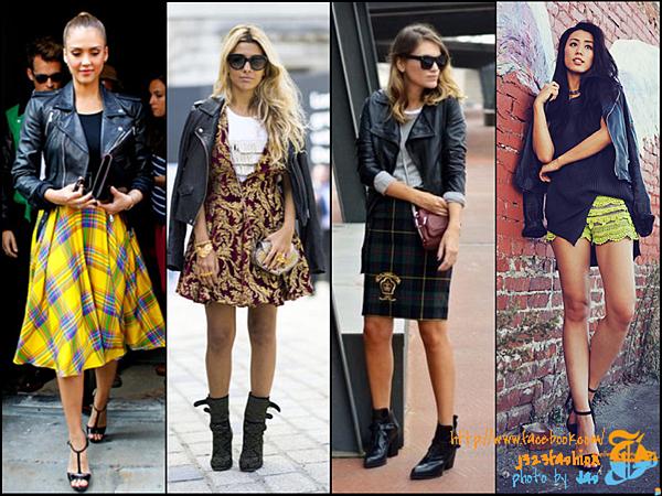 biker + skirts