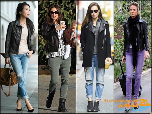 biker jacket + jeans