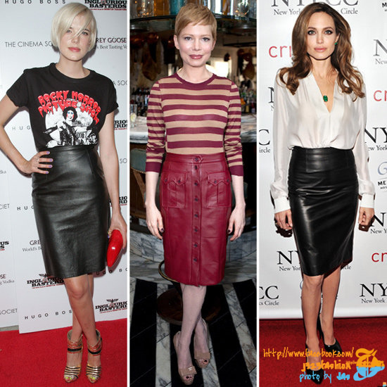 Celebrities-Leather-Skirts