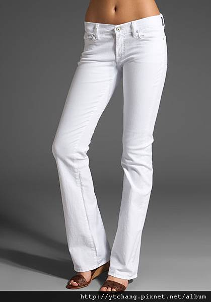 7 For All Mankind The Skinny Bootcut in Clean White