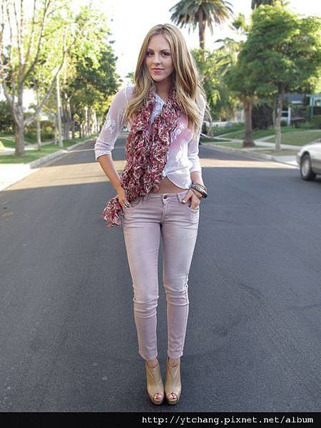 pale pink jeans