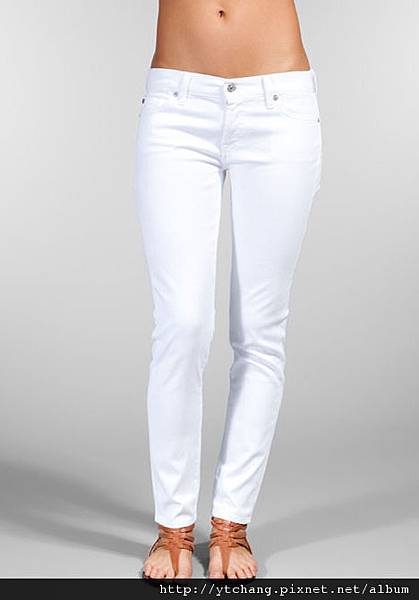 7 For All Mankind Roxanne in Clean White