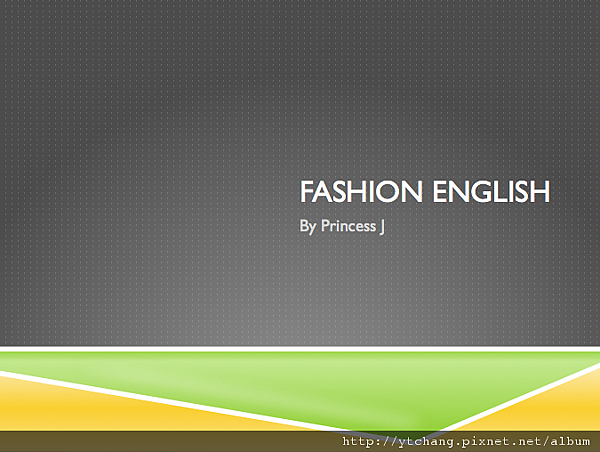 fashion english