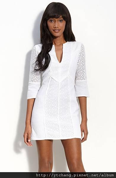 bcbg white dres