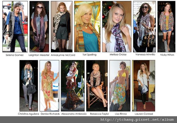 scarf celebs