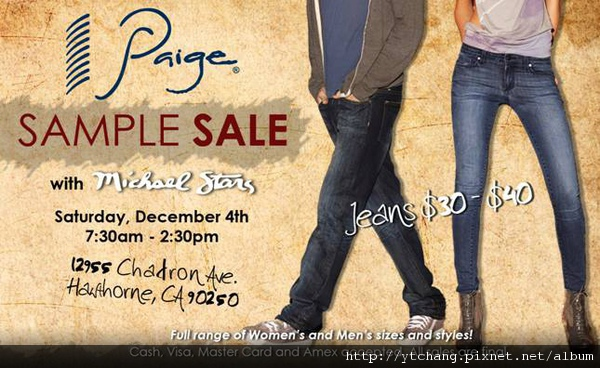 paige sample sale
